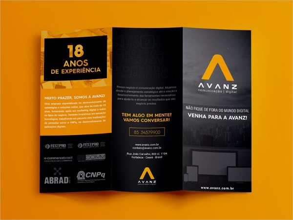Orange Folded Brochure Template