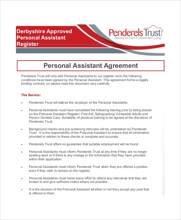 Personal Assistant Confidentiality Agreement