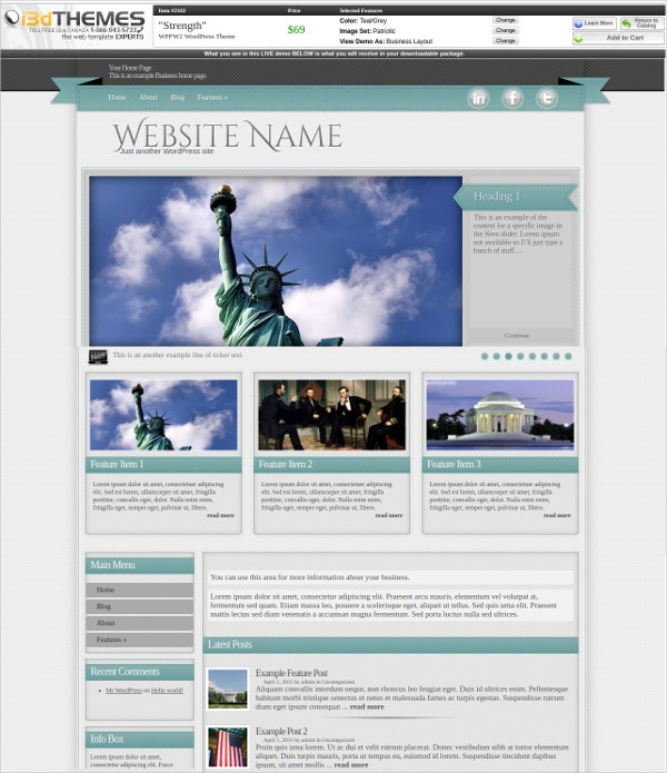 Fully Responsive Patriotic Theme $69