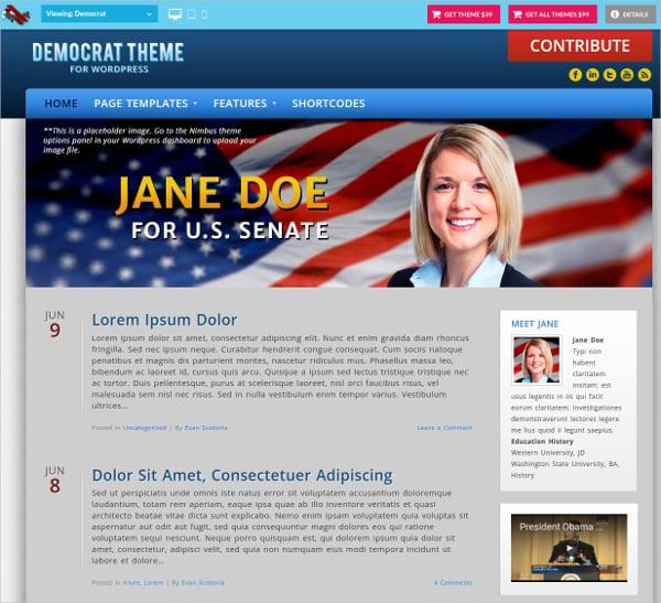 democratic patriotic wordpress theme