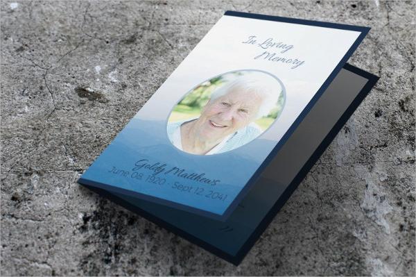 funeral service brochure