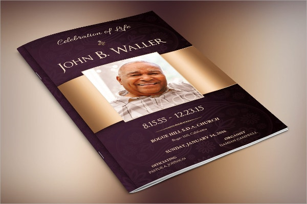 Funeral Brochure Templates Free PSD AI EPS Format Download - Funeral brochure template