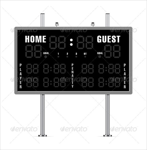 american football scoreboard template download