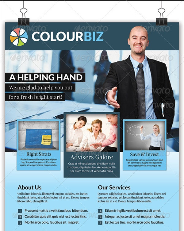 colour biz recruiting business flyer