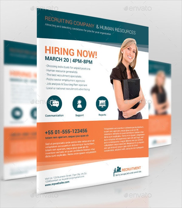 business promotion recruiting company flyer