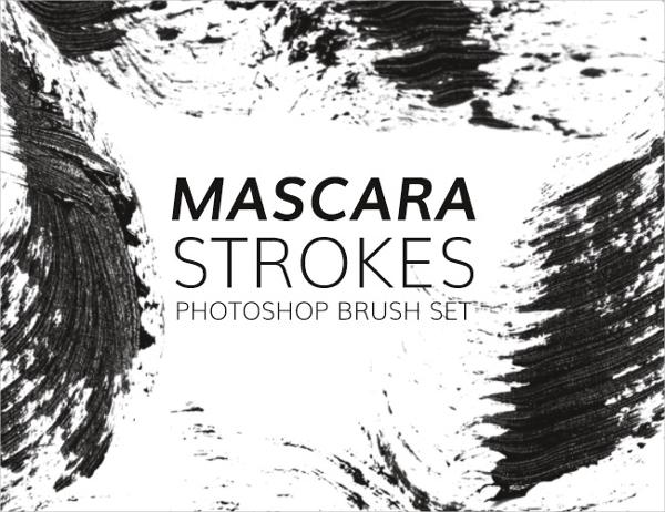Mascara strokes free Photoshop brush set