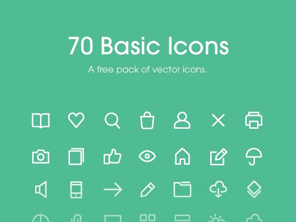 Free 70 Basic Icons