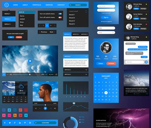 Retina UI Web Kit