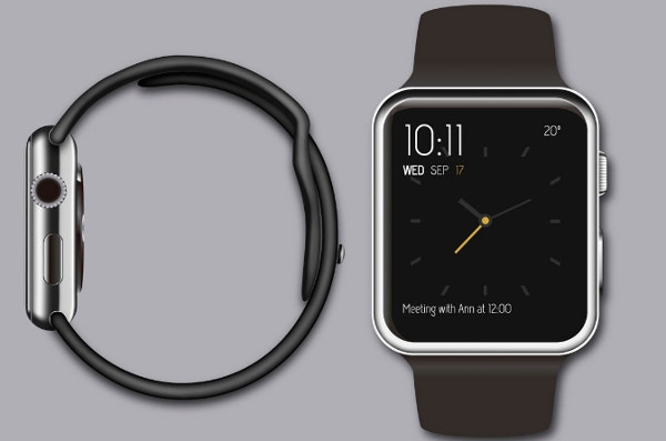iPhone and Apple Watch vector mockups