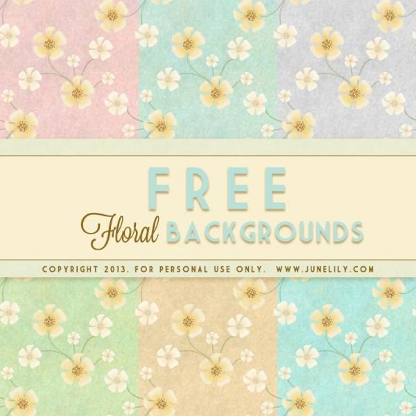 FREE Vintage Floral Backgrounds
