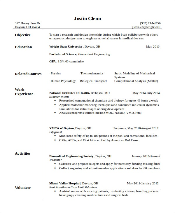 resume format for autocad designer
