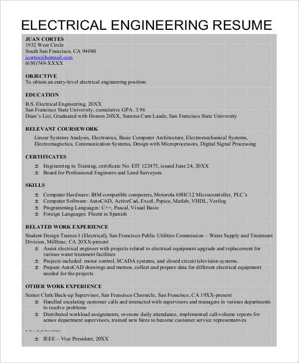 Autocad Resume Template - 8+ Free Word, PDF Document Downloads ...