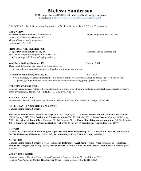 autocad resume template