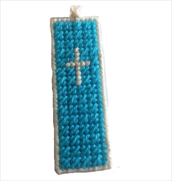 plastic canvas cross christian bookmark template