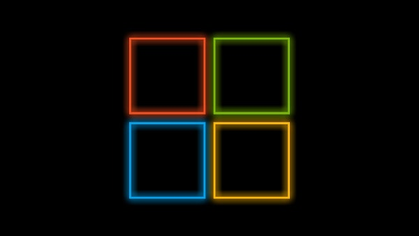 Colorfull 4 Square Black Background