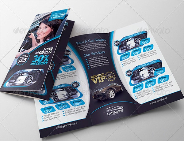 VIP Rent A Car Trifold Brochure