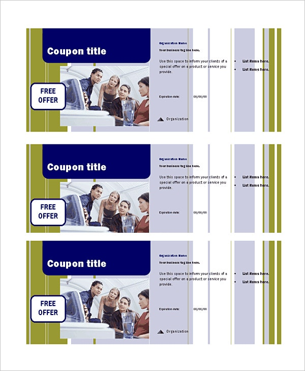 business coupen template publisher download