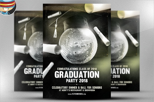 Graduation Party Club Flyer