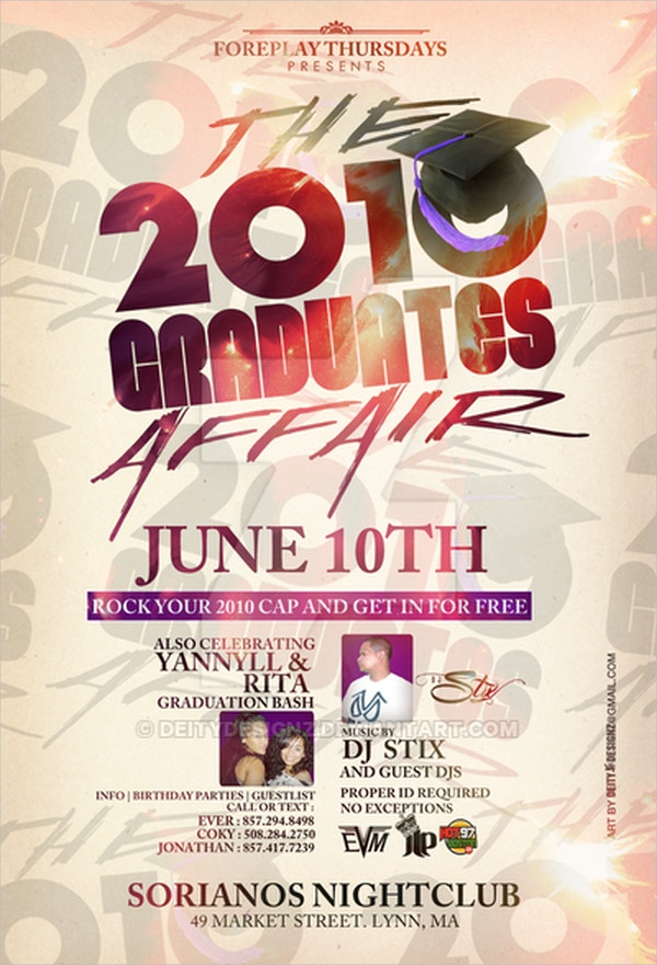 Graduation Affair flyer