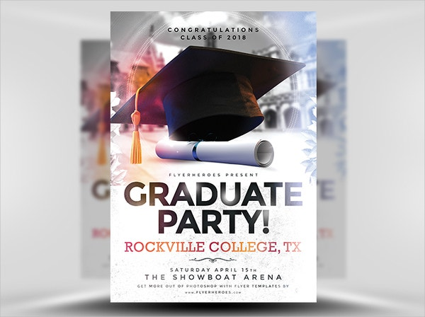 High School Graduation Party Flyers