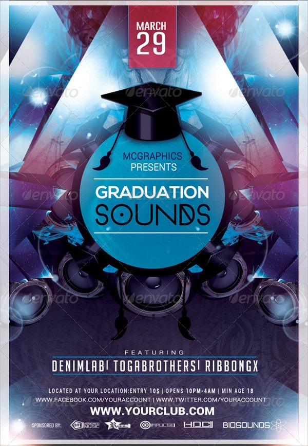 Graduation Sounds Flyer Template