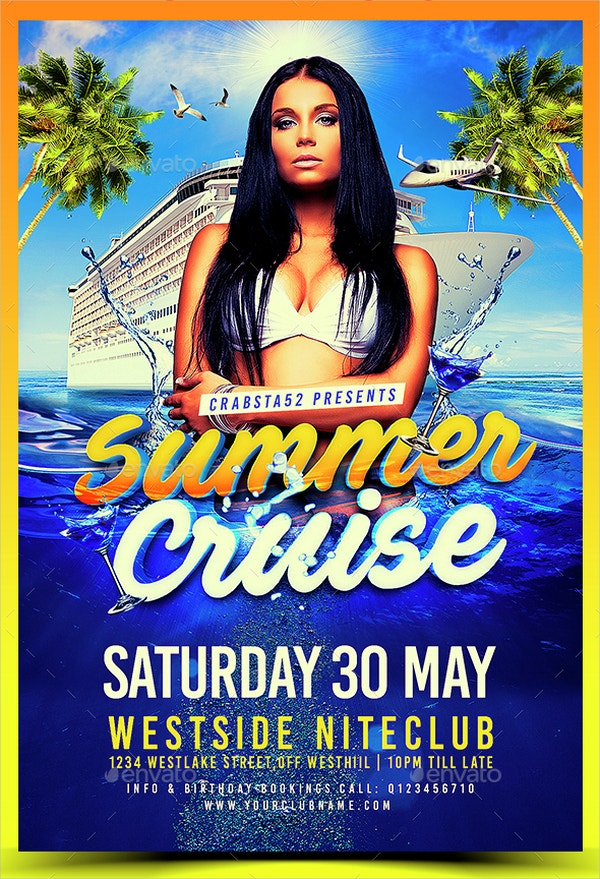 Summer Cruise Flyer Template