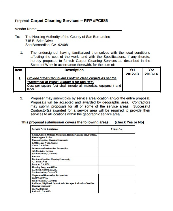 Cleaning Proposal Template   Free Word Pdf Document Downloads