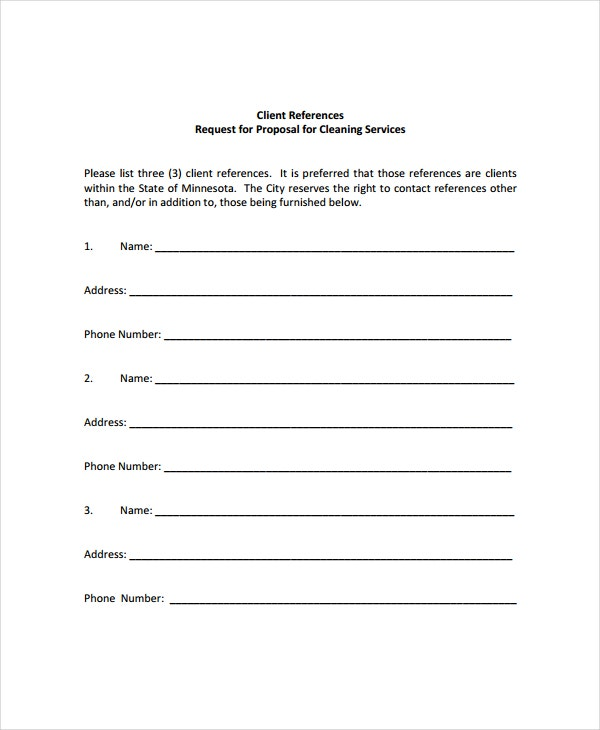 cleaning service proposal template