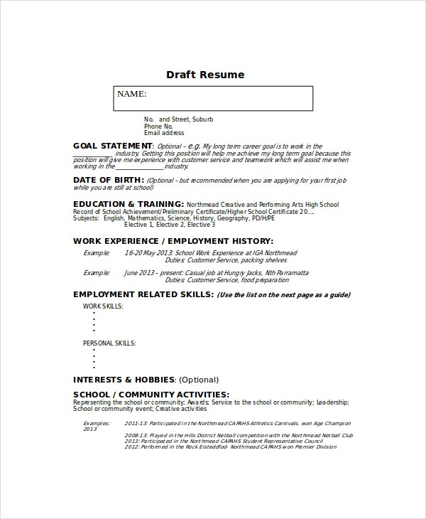 resume template 6 free word pdf documents