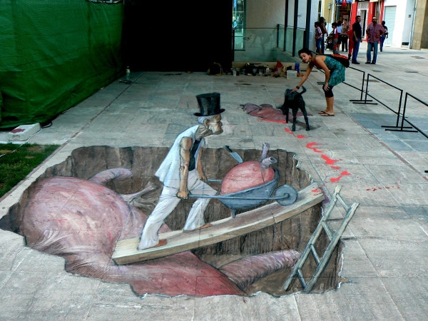 Man Hunting Street Art