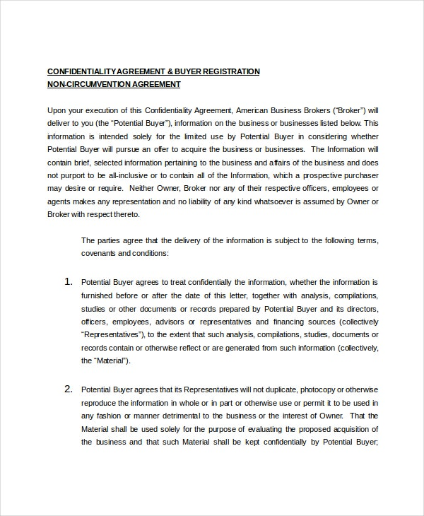 10 business confidentiality agreement templates free sample example business confidentiality agreement form accmission