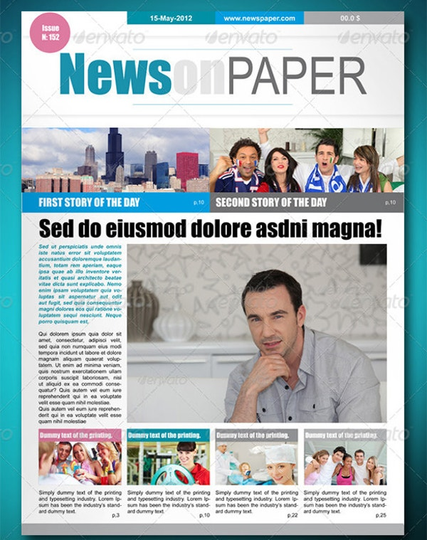 16 newspaper templates free sample example format free