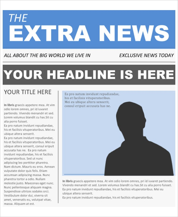 Newspaper Article Template. Empty Newspaper Template Newspaper