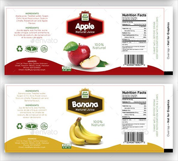 Juice Bottle Label Template