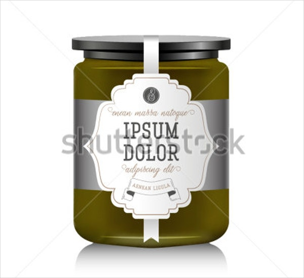 Fruit Jam Bottle Template