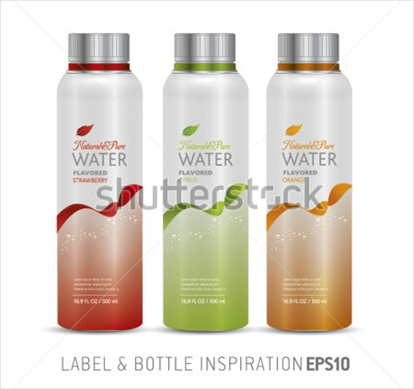 Set of Bottle Label Template