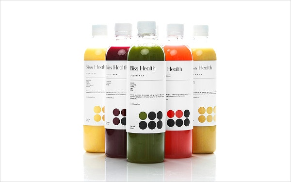 bliss health bottle label template