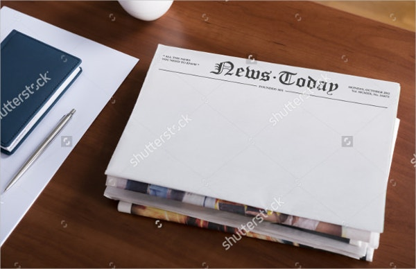 stack of blank newspaper template