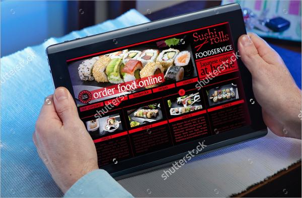 online order takeaway template