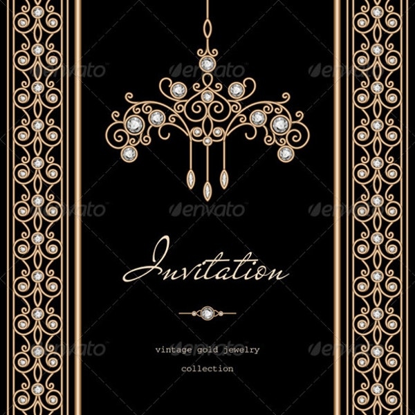 Gold Invitation Wedding Background