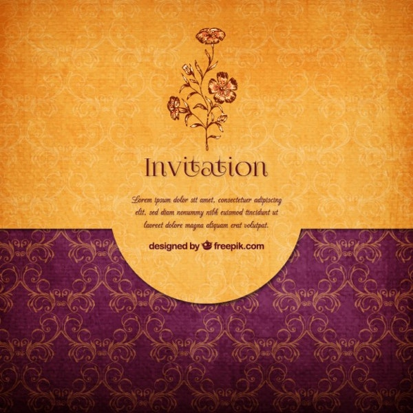 Floral Elegant Invitation Wedding Invitation