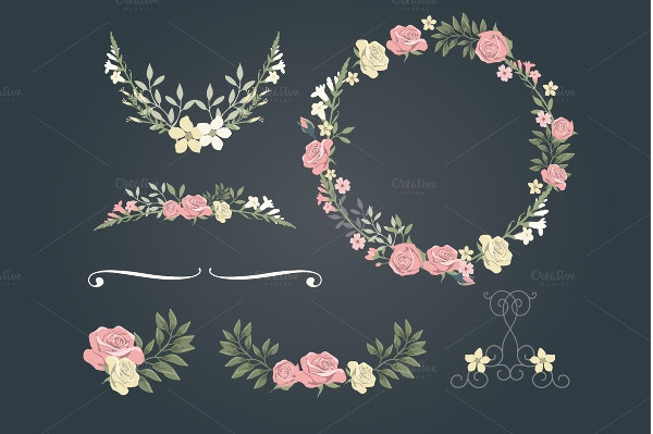 Vintage Rose Wedding Set Background