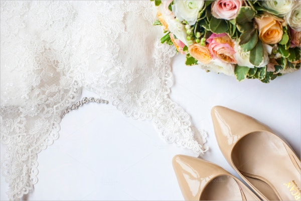 Wedding Beige Colors Mockup Image