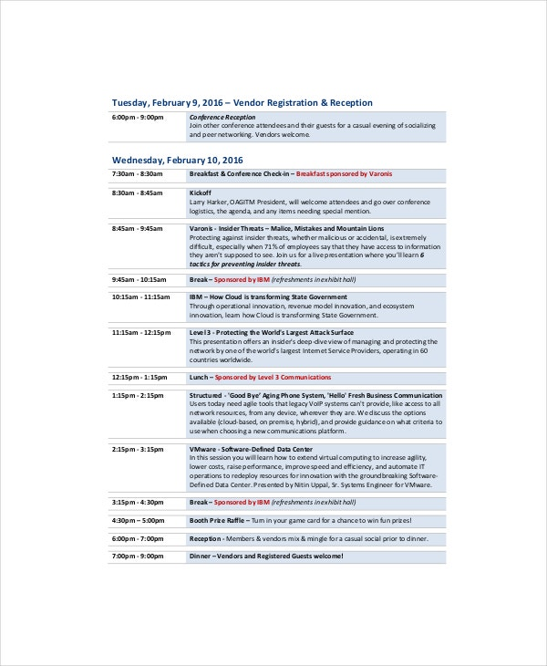 Professional Agenda Template 5 Free Word PDF Documents – Professional Agenda Templates