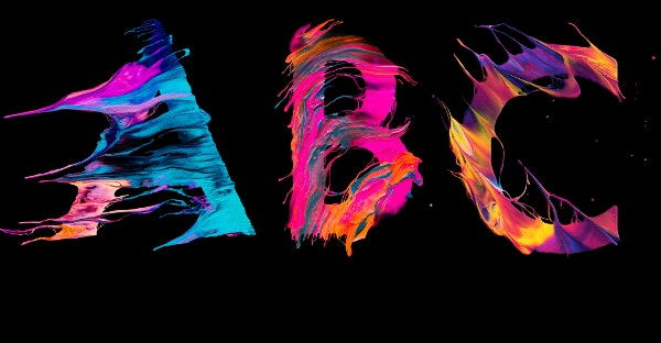 Abstract ABC Rainbow Color Background