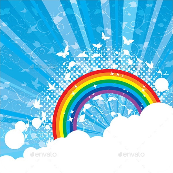 Abstract Vector Rainbow Background