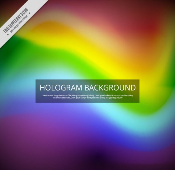 Hologram Background in Rainbow Colors