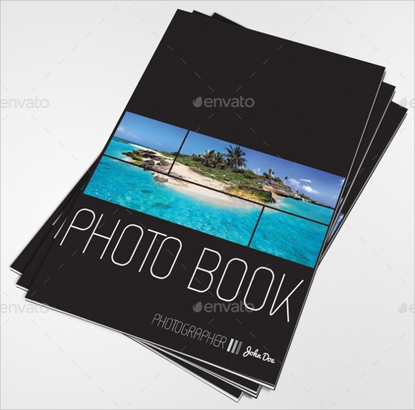 photo book template in format a4