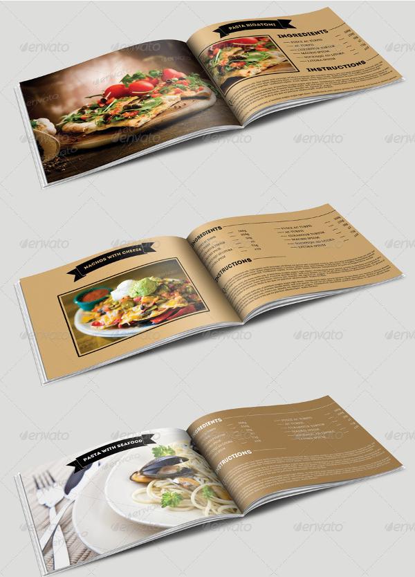 recipe cookbook booklet template