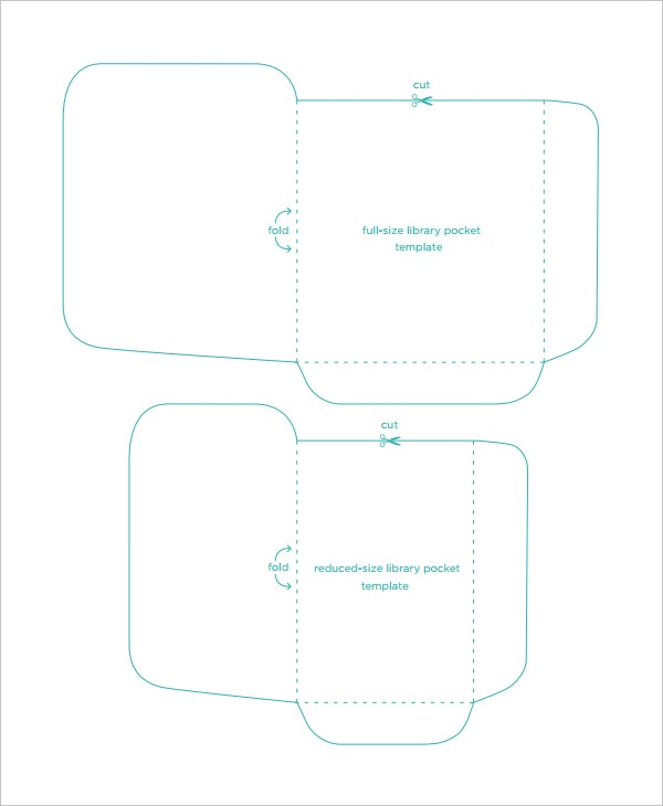 library pocket book template